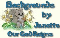 Many thanks to Janette for the use of her beautiful background set.